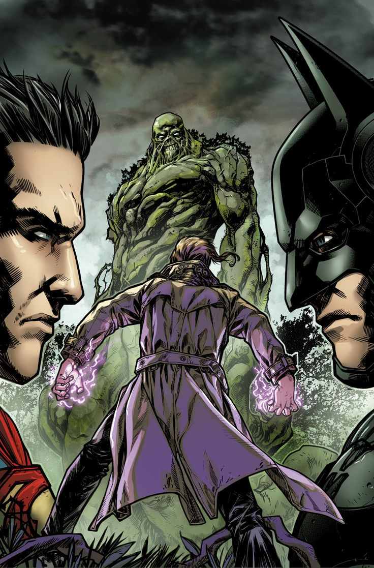 Superman vs Batman, Constantine vs Swamp Thing by Neil Googe #Injustice
