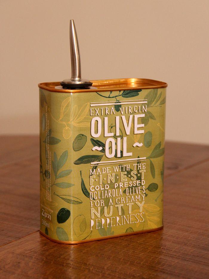 Zizzis Oil Cans - The Dieline -