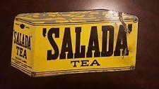 """Vintage original SALADA TEA porcelain sign - old general store RARE 15.5"""" X 8"""""""