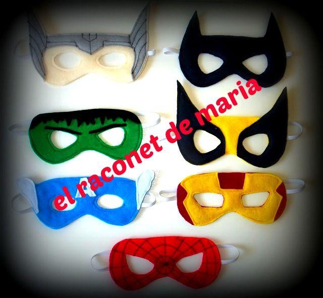 Mascaras superheroes. Niños y niñas en foami | Ideas Cumpleaños ...