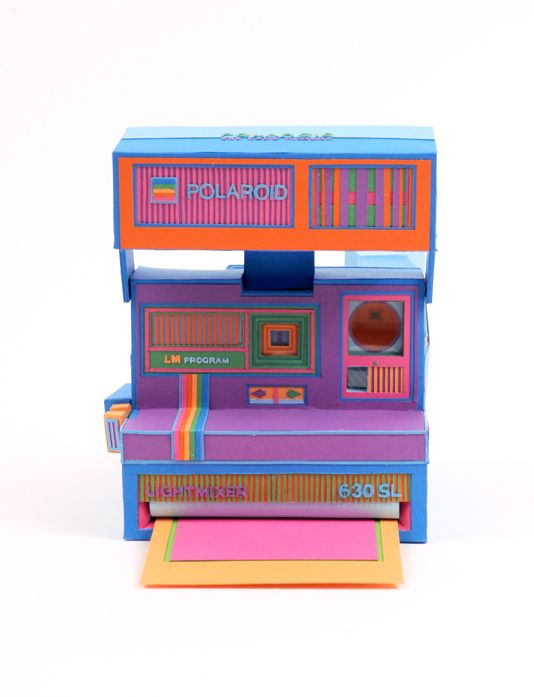 #Polaroid camera made of paper by Zim And Zou.