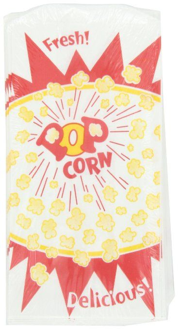 Snappy Popcorn Bag, Burst Design, 50-Count