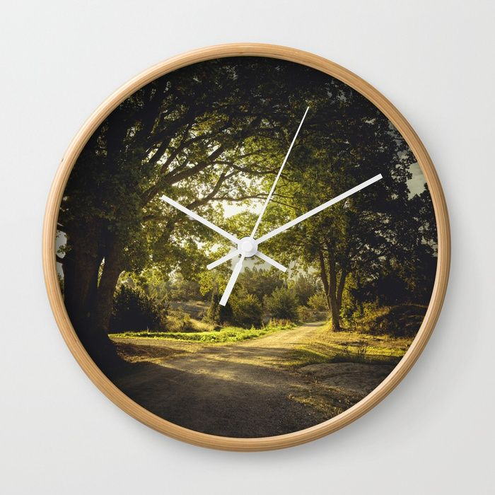 On the road again Wall Clock by HappyMelvin | Society6