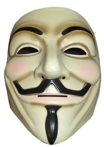 mascara anonymous vendetta. disfraz halloween