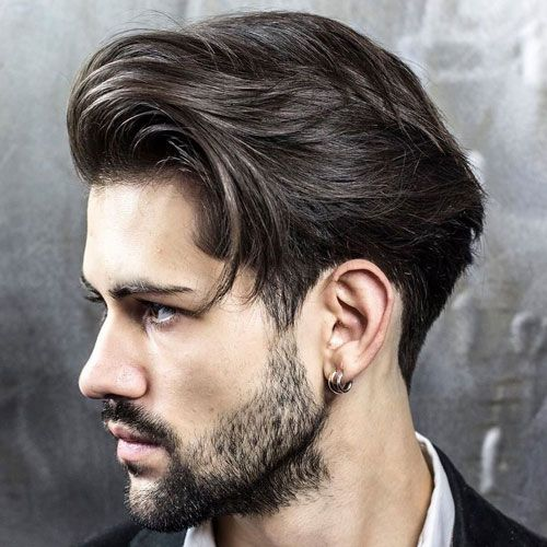 Long Men's Hairstyle Blown Dry Back