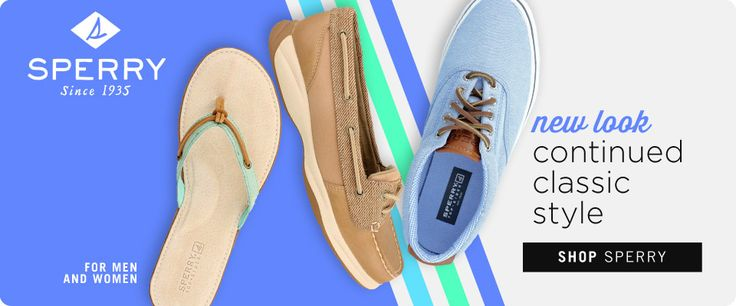 Sperry may have a new look, but the continued classic style it's known for is still the same. Check out the latest spring styles and stock up on all things Sperry for men and women!