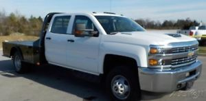 2018 Chevrolet Silverado 3500 WT Duramax 6.6L V8 Allison Transmission Flatbed 2018 WT New Turbo 6.6L V8 32V Automatic 4WD Pickup Truck