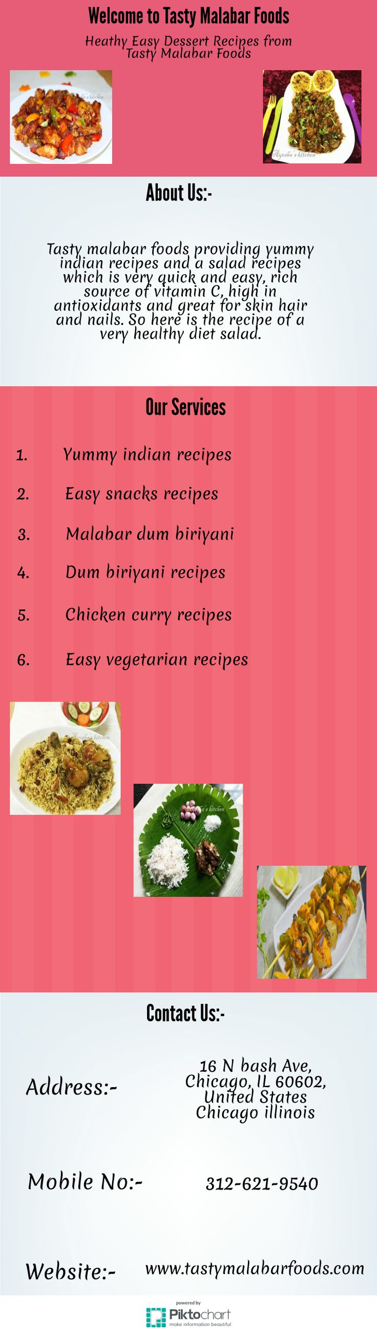 Tasty malabar foods presents  yummy indian dishes like chicken curry, fish curry, easy dessert recipes, butter chicken recipe and salad recipes etc. The Capsicum is great for salads as it helps to cure many diseases mainly high blood pressure, reducing cholesterol and preventing cancer.  For more info:  http://www.tastymalabarfoods.com/2016/01/chicken-recipes.html