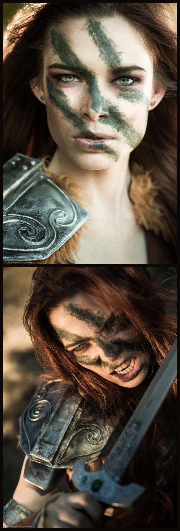 Chloe Dykstra looks a lot like Skyrim's Aela The Huntress