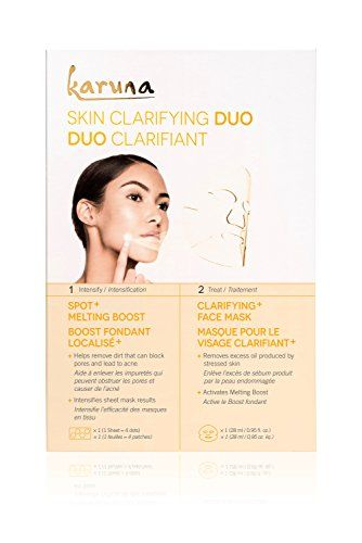 Skin Reviving Duo Under Eye Boost & Age-Defying Face Sheet Mask - 2 Count by Karuna (pack of 4) Natural Skin Care Toner Cool Cucumber - 5 oz. by DeVita (pack of 6)