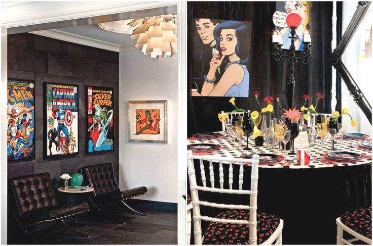Оформление интерьеров в стиле поп-арт #interior #мебель #дизайн #интерьер #дом #уют #декор