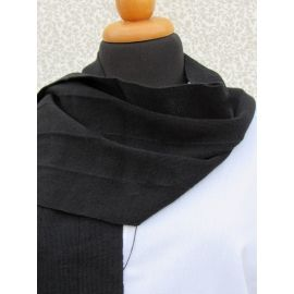 Knitted Scarf - Black Vertical Stripes