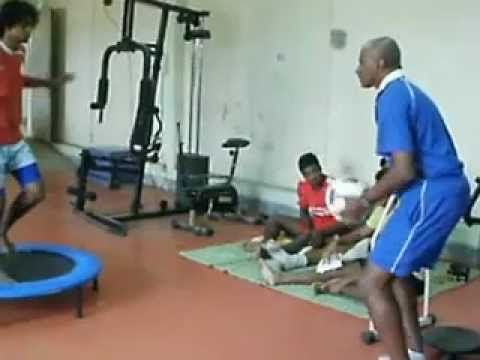 ACL Rehabilitation proprioception with the Ball - YouTube