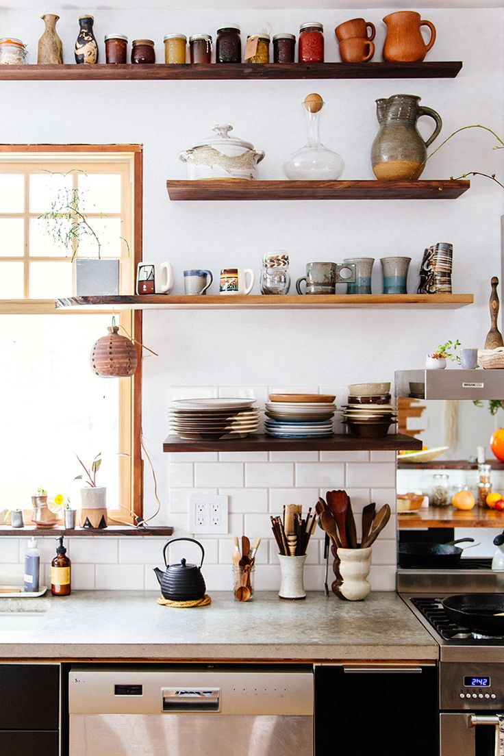 Love these shelves and all their goodies (Justina Blakeney New Bohemians Book)