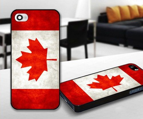 Canada Flag for iPhone 5 Black case | iPhoneCustomCase - Accessories on ArtFire
