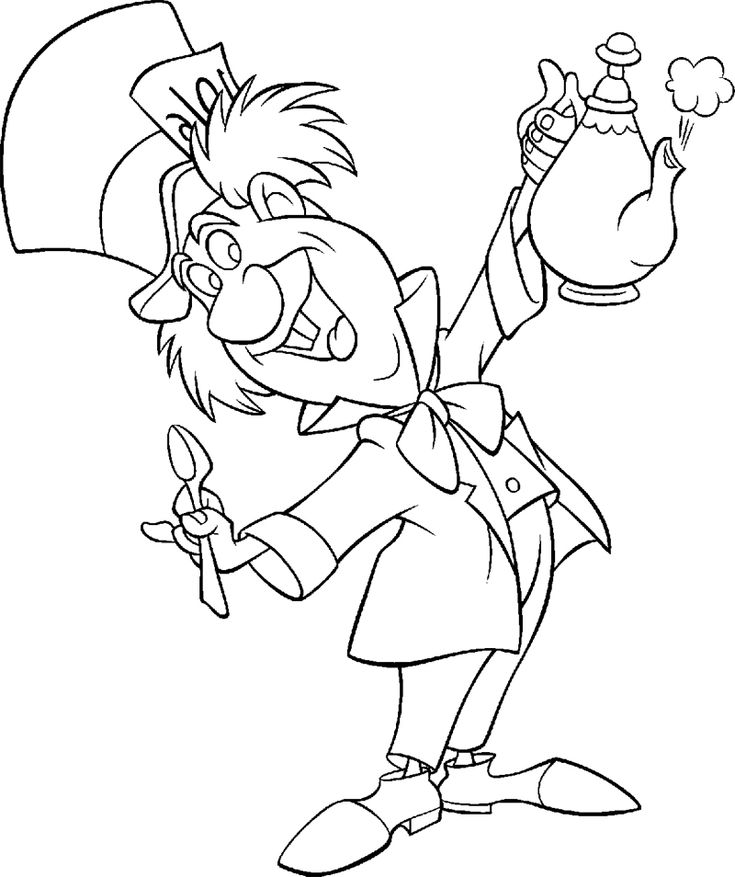 89 best disney images on pinterest drawings, coloring and ducks Mad Face Coloring Page Tweedledum And Tweedledee Coloring Pages Mad Scientist Coloring Pages to Print