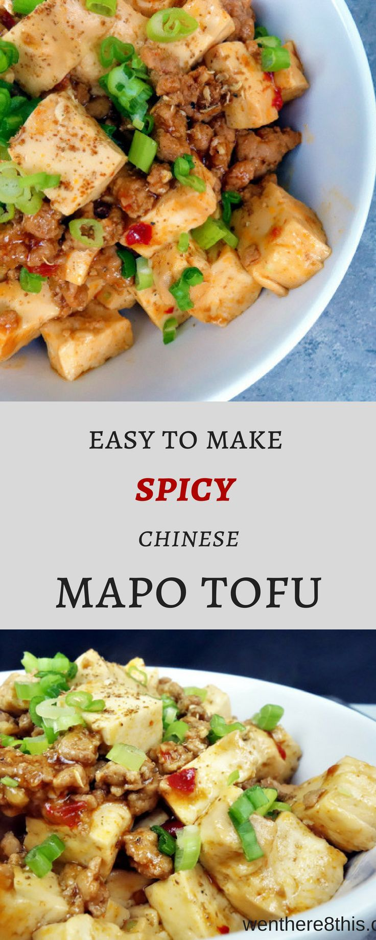 This easy to make spicy Chinese Mapo Tofu is packed full of delicious umami flavor! Cubed tofu in a thick, spicy umami sauce with ground pork...YUM. mapo tofu recipe, chinese mapo tofu easy, tofu recipe, tofu and pork recipe, Sichuan recipes, pf changs, Chinese recipes, spicy mapo tofu, spicy Chinese recipe, easy Chinese recipes, mapo tofu easy via @Went Here 8 This