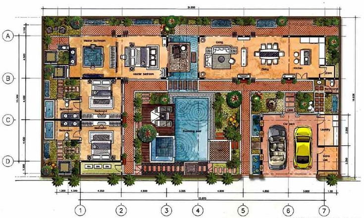 free floor plans for homes bali style