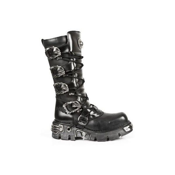 New Rock Boots - Men : Immoral Fashion   Australia's Gothic, Punk and... ($265) ❤ liked on Polyvore featuring men's fashion, men's shoes, men's boots, shoes, boots, mens platform boots, mens punk boots, mens chains, mens cowboy boots and mens biker boots