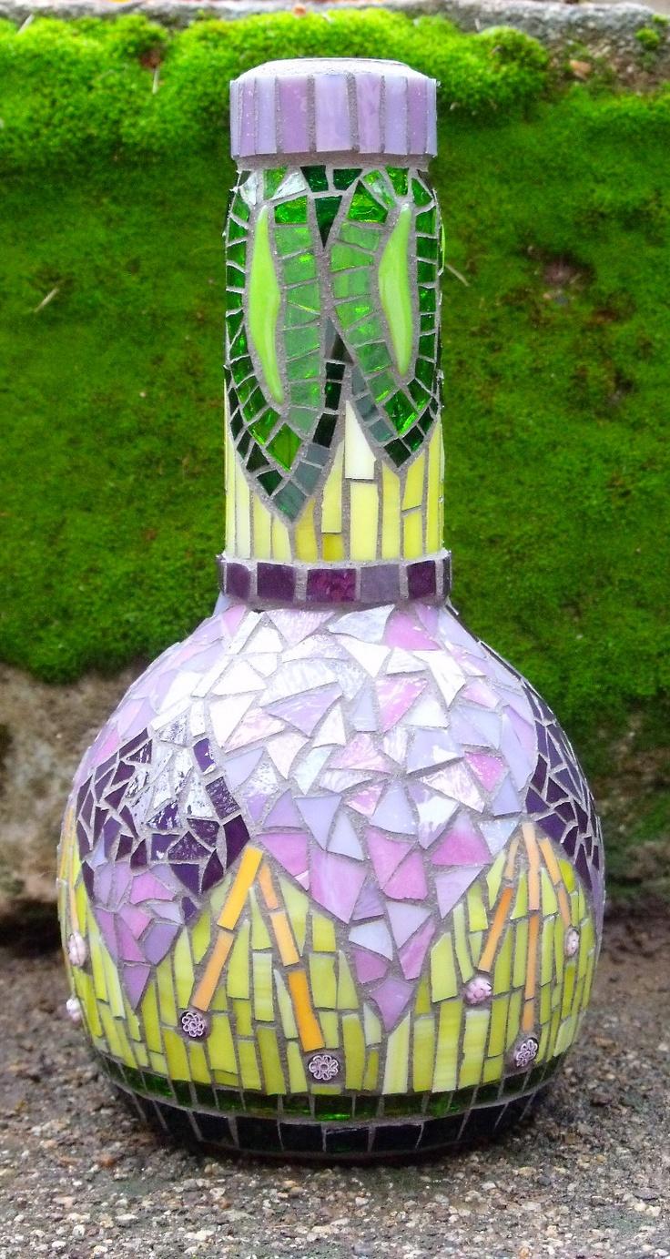 Fuchsia - mosaic bottle