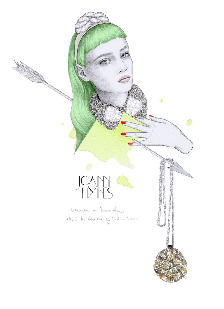 #1 Illustration | Scarlett Half Collar, leather crystal pendant & Knotted Hairband. #illustration