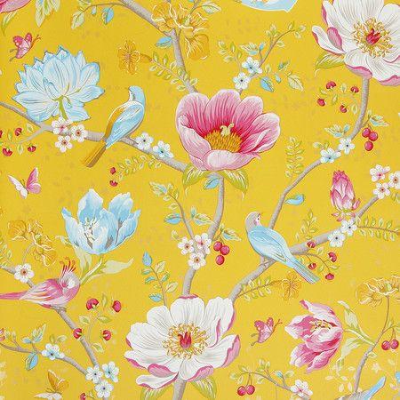 Pip Studio - Chinese Garden Wallpaper - 341006 Yellow