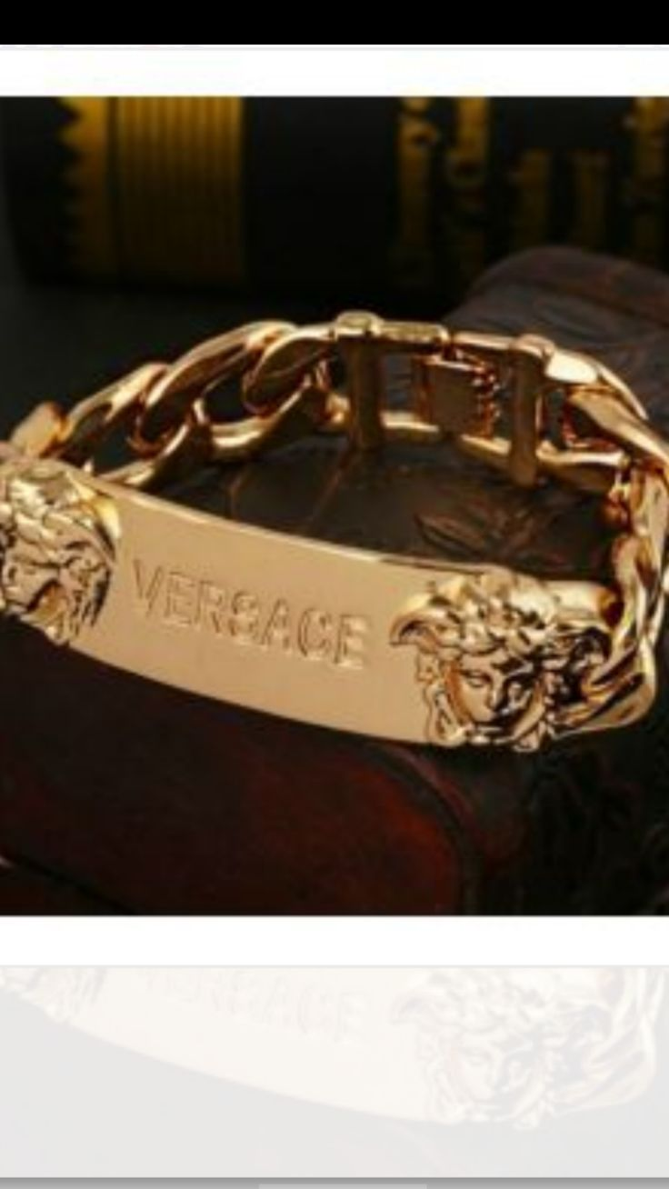 Gold Medusa Versace bracelet fashion