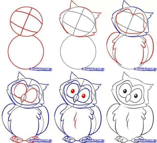 How to draw owls education pinterest for Draw an owl in two steps