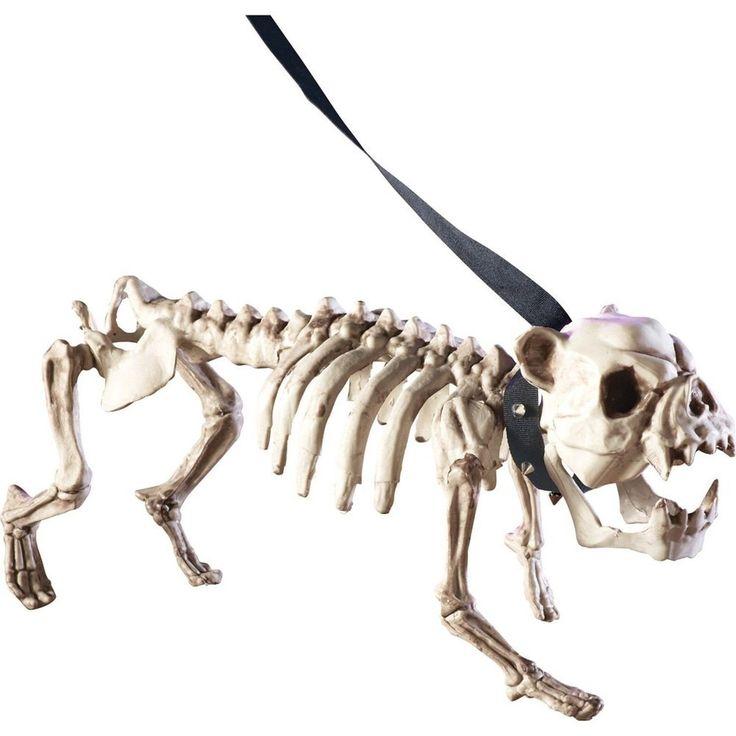 Posable Skeleton Dog Halloween Decoration