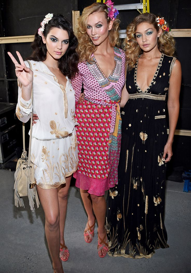 Kendall Jenner, Karlie Kloss, Gigi Hadid, and more walked in DVF's spring 2016 runway show.