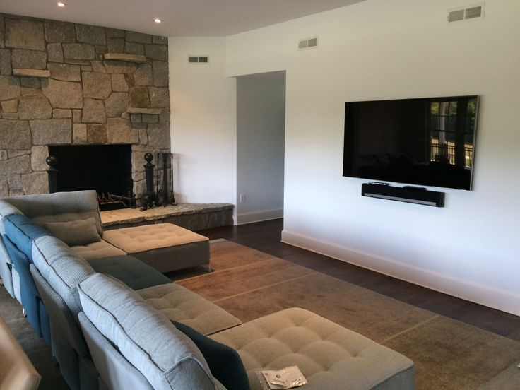 Stylish home in Roxbury, CT featuring Arianne Modern Modular Sectional by Fama bought at CADO Modern Furniture.