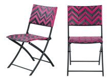 Maui Outdoor 2 x Bistro Chairs, Pink | made.com