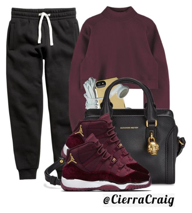 """Sweats"" by cierracraig ❤ liked on Polyvore featuring H&M, Incase and Alexander McQueen"