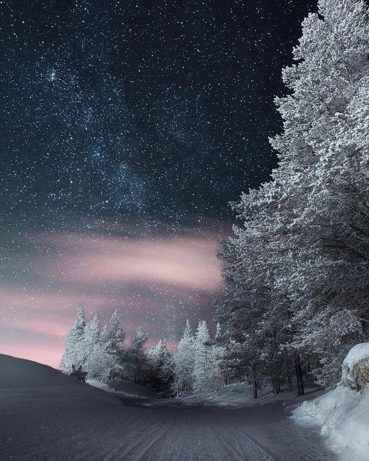 красивые зимние ночные пейзажи фото фото обнаженный