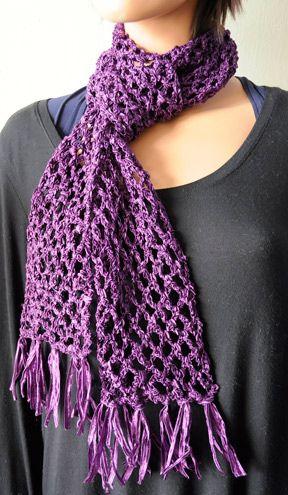 Crochet with Ribbon Yarn – 16 free patterns – Grandmother's Pattern Book