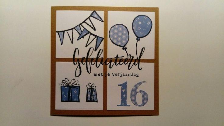 Verjaardagskaart voor een jongen die 16 wordt