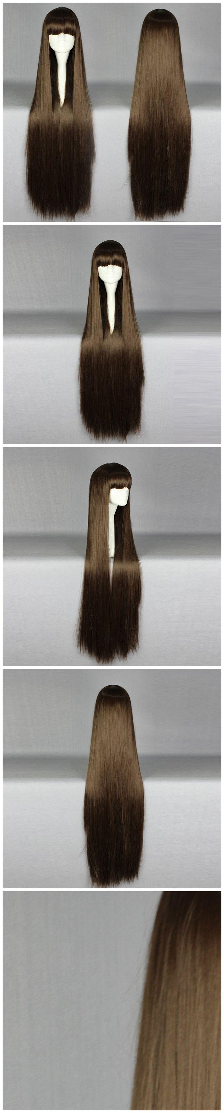 Ваш Стиль Прямо Длинные Коричневые Парики Из Натуральных Волос Женщины Синтетические Поддельные Волосы Высокая Температура Волокна купить на AliExpress