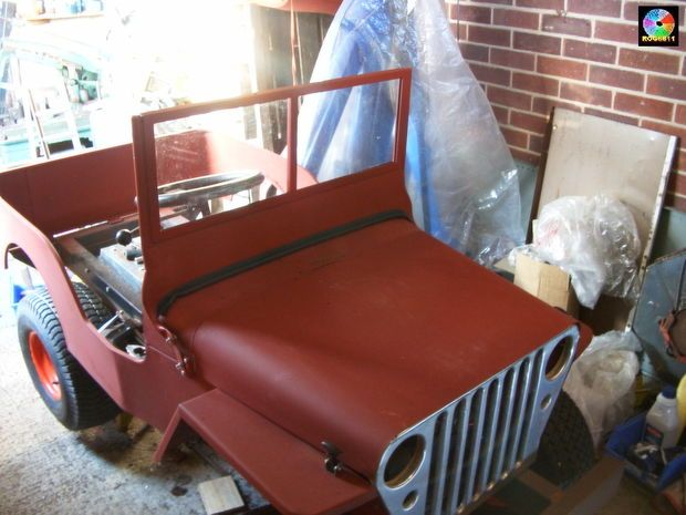 Build a Jeep on the chassis of a ride-on lawnmower.
