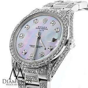 Real Diamond Watches for Men | Details about ROLEX WATCH FOR MEN OR WOMEN WITH DIAMONDS GENUINE ROLEX