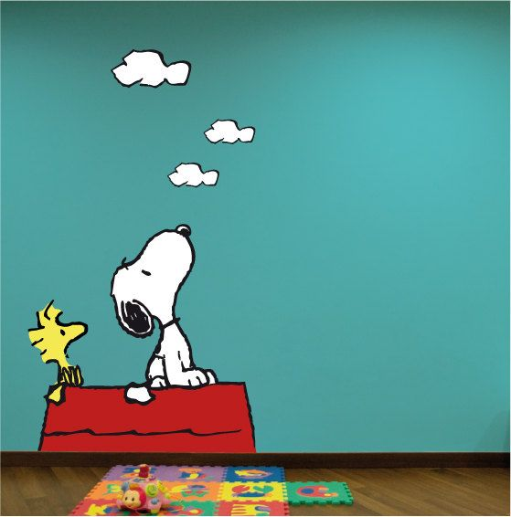 Snoopy Wall Decal. Wall Sticker. by decoryourwall on Etsy, $56.00