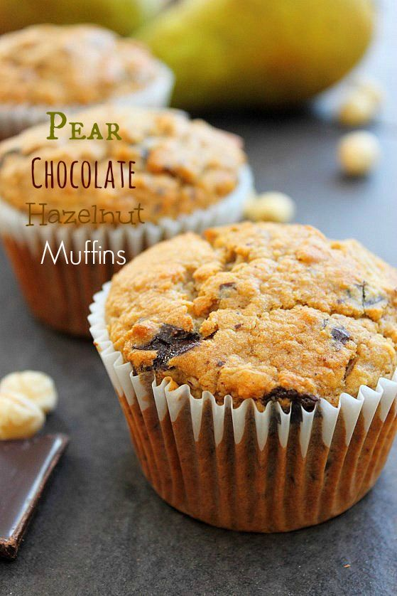 Hazelnut-Pear Muffins Recipes — Dishmaps