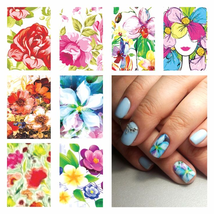 FWC Nail Sticker Water Adhesive Foil Nail Art Decorations Tool Water Decals 3d Design Nail Sticker Makeup