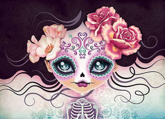 "Camila Huesitos - Sugar Skull"" by sandygrafik | Redbubble"