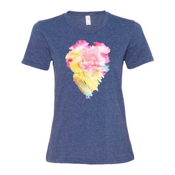 'Love of the family' women's short sleeve t-shirt