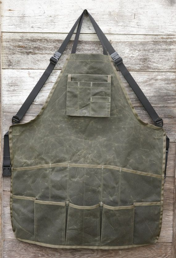 Waxed Canvas Shop Apron by RandiJoFabrications on Etsy