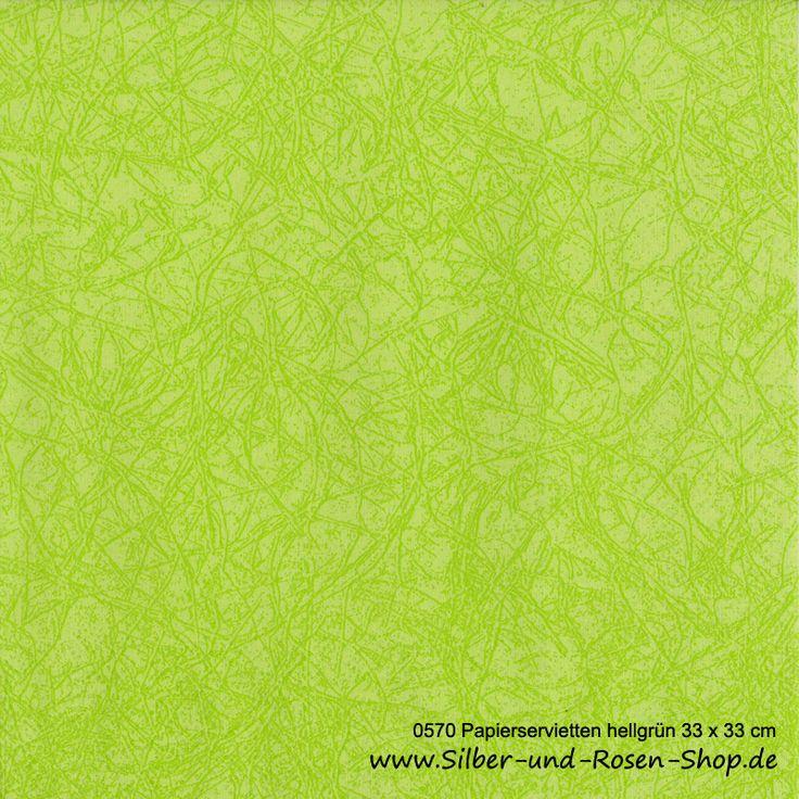 Papierservietten hellgrün 33 x 33 cm