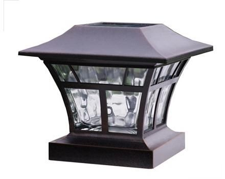 Deck Post Aluminum And Glass Solar Light Canadian Tire