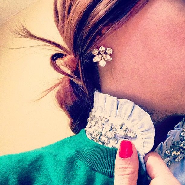 jeweled collar: J. Crew Tilda blouse