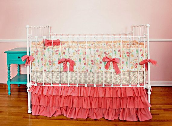 Hey, I found this really awesome Etsy listing at https://www.etsy.com/listing/179633943/coral-baby-bedding-set-reminisce-design