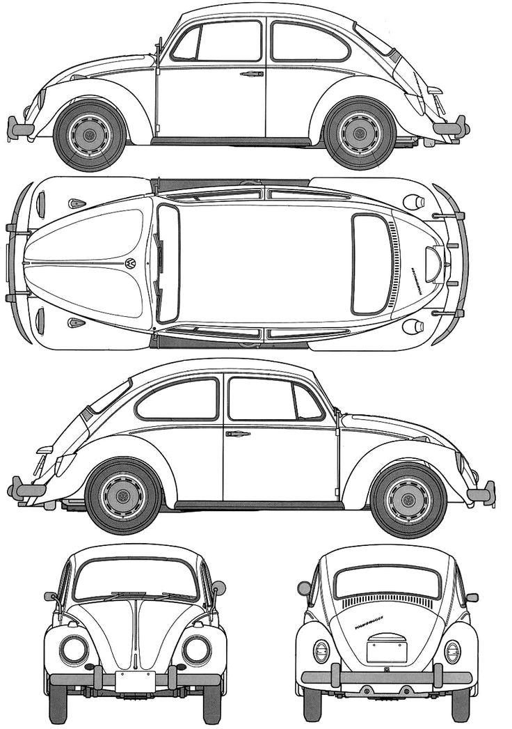 415 best vw vans images on pinterest vw camper vans volkswagen 1967 volkswagen beetle 1200 type 1 sedan blueprint malvernweather Gallery